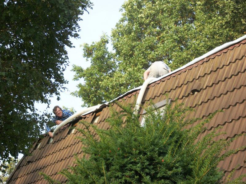 Dämmtechnik Neuhaus - Fachbetrieb - Dachschrägendämmung - Einblasdämmung von außen - ohne Neueindeckung