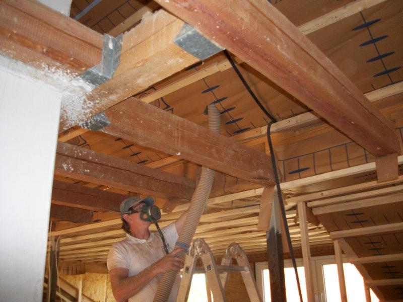 Dämmtechnik Neuhaus - Fachbetrieb - Dachschrägendämmung - Einblasdämmung von innen